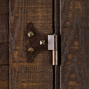 pintel hinge mod. butterfly, in iron - burnished finish