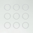 satin white glass - bevel detail circles