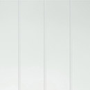 satin white glass - bevel detail vertical lines