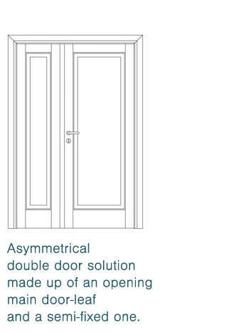 asymmetrical double door