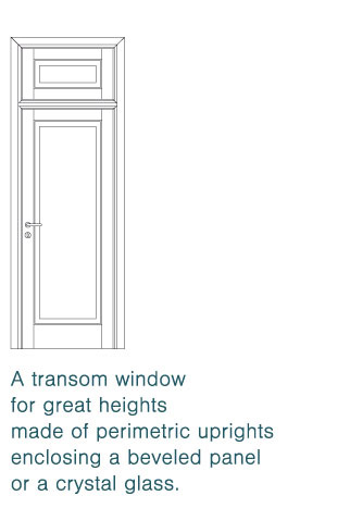 transom window with door-leaf